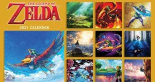 The Legend of Zelda wall calendar 2021